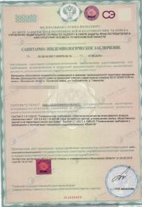 Санитарно-Эпидемиологическое заключение по Домодедово (1)